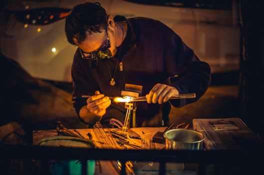 busy glassware man person